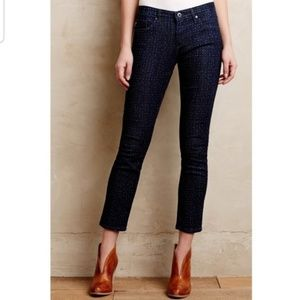 Anthropologie AG Stevie Ankle Slim Dotted Jeans 26